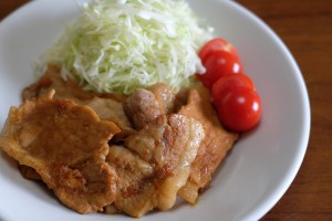 甘酒入り豚の生姜焼き