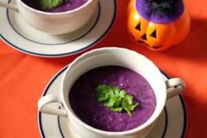 甘酒と紫芋のポタージュ